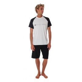 BILLABONG AMPHIBIOUS S/S WHITE SURF SHIRT