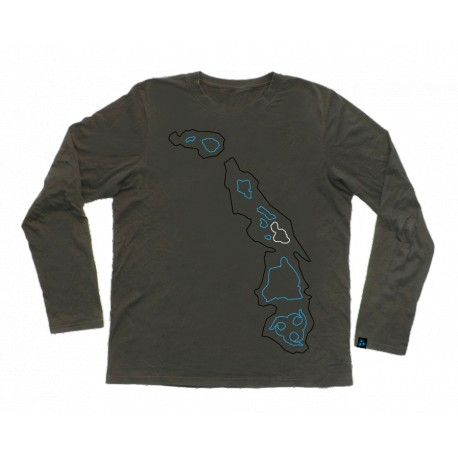 LONGSLEEVE BIG ISLANDS DARK GRAY