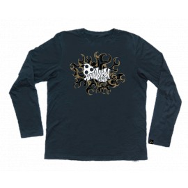 LONGSLEEVE LOGOTYPE FLAME NAVY BLUE